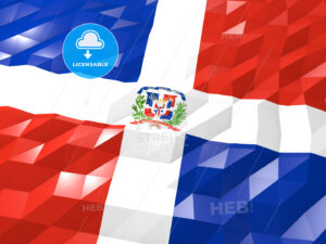 Flag of Dominican Republic 3D Wallpaper Illustration - HEBSTREITS Sketches