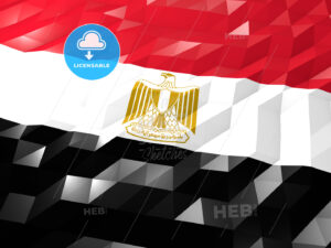 Flag of Egypt 3D Wallpaper Illustration - HEBSTREITS Sketches