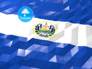 Flag of El Salvador 3D Wallpaper Illustration - HEBSTREITS Sketches