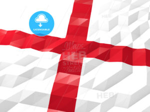 Flag of England 3D Wallpaper Illustration - HEBSTREITS Sketches