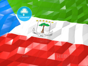 Flag of Equatorial Guinea 3D Wallpaper Illustration - HEBSTREITS Sketches