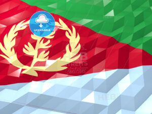 Flag of Eritrea 3D Wallpaper Illustration - HEBSTREITS Sketches