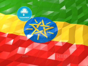Flag of Ethiopia 3D Wallpaper Illustration - HEBSTREITS Sketches