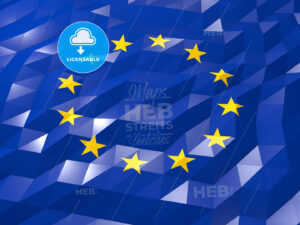 Flag of European Union 3D Wallpaper Illustration - HEBSTREITS Sketches