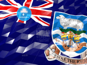 Flag of Falkland Islands 3D Wallpaper Illustration - HEBSTREITS Sketches
