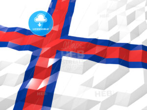 Flag of Faroe Islands 3D Wallpaper Illustration - HEBSTREITS Sketches