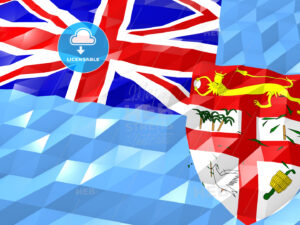 Flag of Fiji 3D Wallpaper Illustration - HEBSTREITS Sketches
