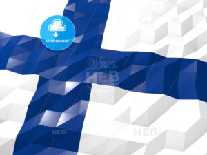 Flag of Finland 3D Wallpaper Illustration - HEBSTREITS Sketches