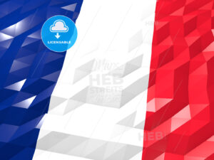 Flag of France 3D Wallpaper Illustration - HEBSTREITS Sketches