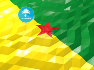 Flag of French Guiana 3D Wallpaper Illustration - HEBSTREITS Sketches