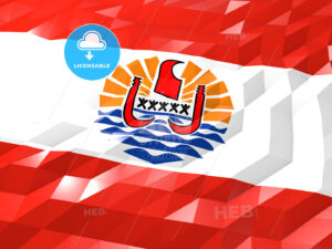 Flag of French Polynesia 3D Wallpaper Illustration - HEBSTREITS Sketches