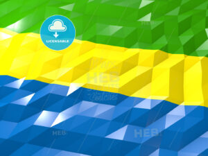 Flag of Gabon 3D Wallpaper Illustration - HEBSTREITS Sketches