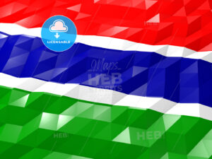 Flag of Gambia 3D Wallpaper Illustration - HEBSTREITS Sketches