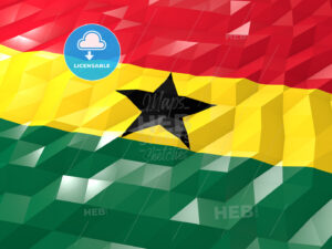 Flag of Ghana 3D Wallpaper Illustration - HEBSTREITS Sketches