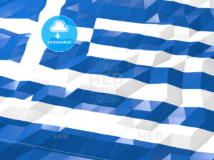 Flag of Greece 3D Wallpaper Illustration - HEBSTREITS Sketches
