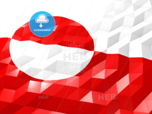Flag of Greenland 3D Wallpaper Illustration - HEBSTREITS Sketches