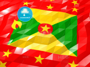 Flag of Grenada 3D Wallpaper Illustration - HEBSTREITS Sketches