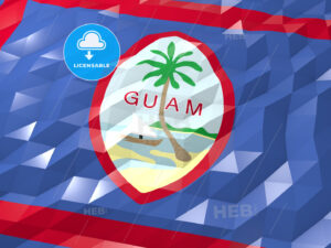 Flag of Guam 3D Wallpaper Illustration - HEBSTREITS Sketches