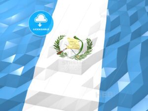 Flag of Guatemala 3D Wallpaper Illustration - HEBSTREITS Sketches