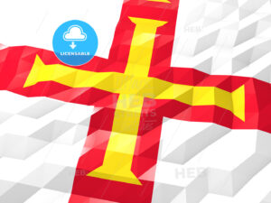 Flag of Guernsey 3D Wallpaper Illustration - HEBSTREITS Sketches