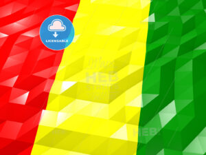 Flag of Guinea 3D Wallpaper Illustration - HEBSTREITS Sketches