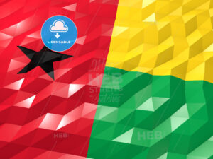 Flag of Guinea-Bissau 3D Wallpaper Illustration - HEBSTREITS Sketches