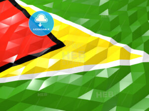 Flag of Guyana 3D Wallpaper Illustration - HEBSTREITS Sketches