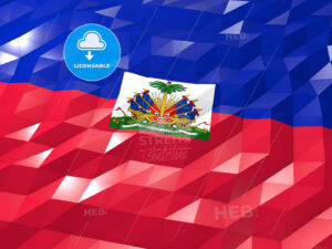 Flag of Haiti 3D Wallpaper Illustration - HEBSTREITS Sketches