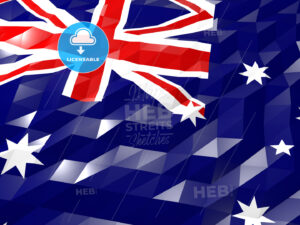 Flag of Heard Island and McDonald Islands 3D Wallpaper Illustrat - HEBSTREITS Sketches