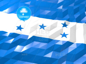 Flag of Honduras 3D Wallpaper Illustration - HEBSTREITS Sketches