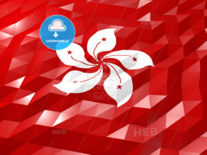 Flag of Hong Kong 3D Wallpaper Illustration - HEBSTREITS Sketches