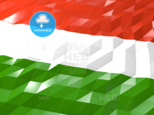 Flag of Hungary 3D Wallpaper Illustration - HEBSTREITS Sketches