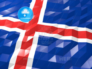 Flag of Iceland 3D Wallpaper Illustration - HEBSTREITS Sketches