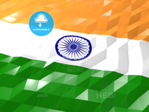 Flag of India 3D Wallpaper Illustration - HEBSTREITS Sketches