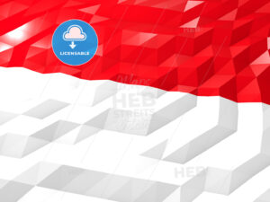 Flag of Indonesia 3D Wallpaper Illustration - HEBSTREITS Sketches