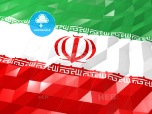 Flag of Iran 3D Wallpaper Illustration - HEBSTREITS Sketches