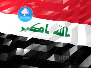 Flag of Iraq 3D Wallpaper Illustration - HEBSTREITS Sketches