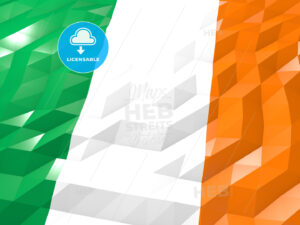 Flag of Ireland 3D Wallpaper Illustration - HEBSTREITS Sketches
