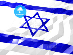 Flag of Israel 3D Wallpaper Illustration - HEBSTREITS Sketches