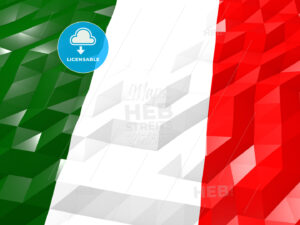 Flag of Italy 3D Wallpaper Illustration - HEBSTREITS Sketches