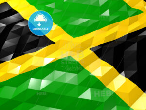 Flag of Jamaica 3D Wallpaper Illustration - HEBSTREITS Sketches