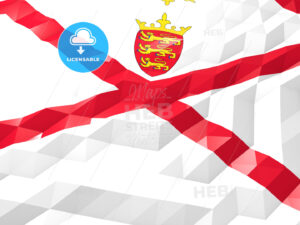 Flag of Jersey 3D Wallpaper Illustration - HEBSTREITS Sketches