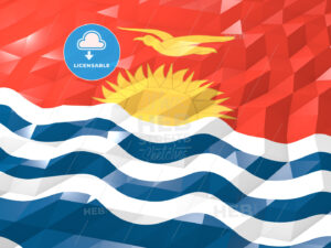 Flag of Kiribati 3D Wallpaper Illustration - HEBSTREITS Sketches