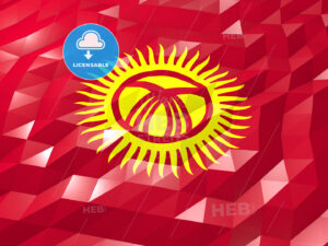 Flag of Kyrgyzstan 3D Wallpaper Illustration - HEBSTREITS Sketches