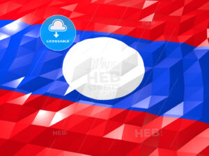Flag of Laos 3D Wallpaper Illustration - HEBSTREITS Sketches