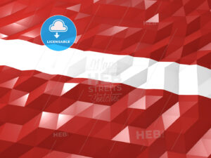 Flag of Latvia 3D Wallpaper Illustration - HEBSTREITS Sketches