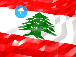 Flag of Lebanon 3D Wallpaper Illustration - HEBSTREITS Sketches