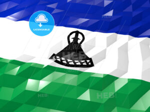 Flag of Lesotho 3D Wallpaper Illustration - HEBSTREITS Sketches
