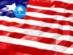 Flag of Liberia 3D Wallpaper Illustration - HEBSTREITS Sketches