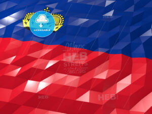 Flag of Liechtenstein 3D Wallpaper Illustration - HEBSTREITS Sketches